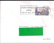YT1369  SSL FR  OBL.LAVAL GARE 2/5/63   FL/ FOIRE EXPO 18/23  MAI 1963 - 1961-....