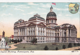 POST CARD Indiana, Indianapolis, Capitol Building -  IPC & N  N°97-24 - Indianapolis