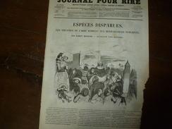 1855 Gravures  Du Journal Pour Rire:Espèces Disparues(théâtres Du Carré Marigny Et Réjouissances Publiques,par Bertall) - Vieux Papiers