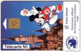 FRANCE PARC DISNEYLAND PARIS DISNEY 50U MICKEY GEMPLUS UT - Disney