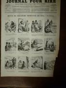 1855 Gravures  Du Journal Pour Rire: REVUE De NADAR; Courses Pour L'amélioration De La Race Auvergnate; Etc - Vieux Papiers