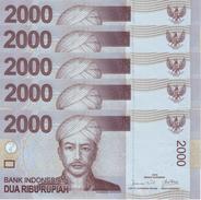 INDONESIA 2000 RUPIAH 2009 P-148a UNC 5 PCS  [ID598a] - Indonesia