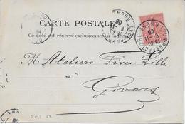 Carte Postale THEVENIN Frères, SEGUIN 1906 - Perf. TFS 32 - Perfins