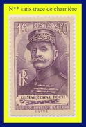 N° 455 OEUVRES DE GUERRE 1940 - MARÉCHAL JOFFRE - N** SANS TRACE DE CHARNIÈRE - Unused Stamps