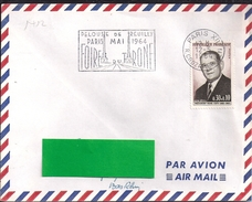 YT1412  SSL FR  OBL PARIS XII 12/5/64  FL/ FOIRE DU TRONE PARIS MA I1964 - Marcophilie (Lettres)