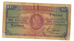 Malta 1 Shill.  F , See Scan. Free Ship. To USA. - Malta