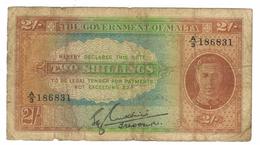 Malta 2  Shill.  Vg/F , See Scan. Free Ship. To USA. - Malta