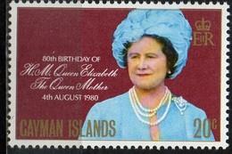PIA - Isole Cayman  - 1980 : 80° Compleanno Della Regina Madre Elisabetta - (Yv 450) - Cayman (Isole)