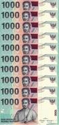 INDONESIA 1000 RUPIAH 2013 (2000) P-141m UNC 10 PCS [ID597m] - Indonesia