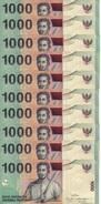 INDONESIA 1000 RUPIAH 2009 (2000) P-141j UNC 10 PCS  [ID597j] - Indonesia