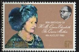 PIA - GAMBIA  - 1980 : 80° Compleanno Della Regina Madre Elisabetta - (Yv 411) - Gambia (1965-...)