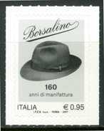 ITALIA / ITALY 2017** - Borsalino - 1 Val. Autoadesivo Come Da Scansione - 6. 1946-.. Repubblica