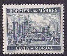 BÖHMEN & MÄHREN Mi. Nr. 34 * (A-4-2) - Bohême & Moravie