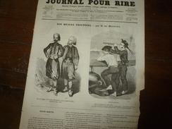 1855 Gravures  Du Journal Pour Rire: Nos Braves Troupiers;L'apprenti DOUDOU;Prodigue Et Prodige;Hiéroglyphes;etc - Vieux Papiers