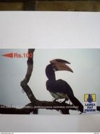 SRI LANKA GPT 21SRLE03.... MALABAR PIEDHORNBILL OISEAU BIRD 100 RS UT