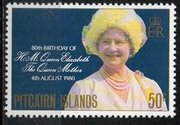 PIA - PITCAIRN  - 1980 : 80° Compleanno Della Regina Madre Elisabetta - (Yv 189) - Pitcairn