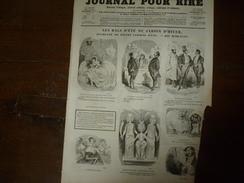 1855 Gravures  Du Journal Pour Rire: Les Bals D'été Du Jardin D'hiver ,par Marcelin; Le Demi-monde;Tondeurs Et Tondus - Vieux Papiers