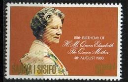 PIA - SAMOA E SISIFO  - 1980 : 80° Compleanno Della Regina Madre Elisabetta - (Yv 417) - Samoa
