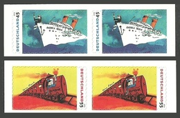 GERMANY 2010 TRAINS RAILWAYS SHIPS CARTOONS LINDENBURG POP ROCK SONGS SET MNH - [7] West-Duitsland