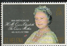 PIA - ISOLA Di SANT'ELENA  - 1980 : 80° Compleanno Della Regina Madre Elisabetta - (Yv 329) - Isola Di Sant'Elena