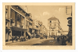 SAINT-GERMAIN-en-LAYE  (cpa 78)  Rue Du Vieux Marché - Le Crédit Lyonnais -   - L 1 - St. Germain En Laye