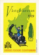 Schweden Vignette 1959 Eisenbahn Västgötaresan Zug - Eisenbahnverkehr