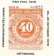 Schweden Eisenbahn Paketfreimarke 1979 Göteborg - Särö Jernväg - Eisenbahnverkehr