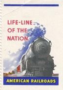USA Vignette Eisenbahn American Railroads Life-Line Of The Nation Lokomotive Zug - Eisenbahnverkehr