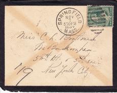 Lettre USA Springfield Massachusetts 1887 Funeral Letter - 1847-99 Algemene Uitgaves