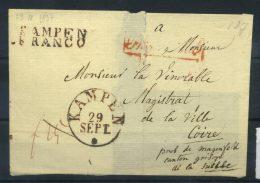 #17-03-00488 - Netherlands - 1837 - Mi. - - COV - QUALITY:100% - Cover Kampen - Niederlande