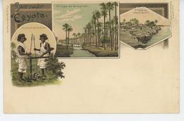 AFRIQUE - EGYPTE - Souvenir D'EGYPTE - Village De GUESIRAH - Soldats De SUAKIM - Village Au Bord Du Nil - Egypte