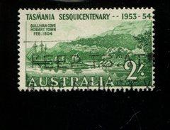 443116541 AUSTRALIA DB 1953 GEBRUIKT USED OBLITERE GEBRAUCHT YVERT 205 - 1952-65 Elizabeth II : Ed. Pré-décimales