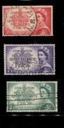 443116754 AUSTRALIA DB 1953 GEBRUIKT USED OBLITERE GEBRAUCHT YVERT 199 200 201 - 1952-65 Elizabeth II : Ed. Pré-décimales