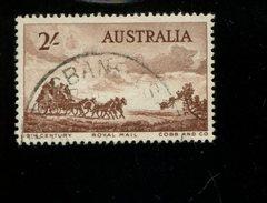 443117840 AUSTRALIA DB 1955 GEBRUIKT USED OBLITERE GEBRAUCHT YVERT 221 - 1952-65 Elizabeth II : Ed. Pré-décimales