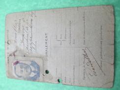 Carte Union Nationale Des Combattants/Timbres De Cotisations/Candellier/Employé De Chemin De Fer/Dieppe/1933-45    AEC53 - Documents