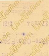 Schweden Eisenbahn Fahrkarte 1984 LänsTrafiken - Eisenbahnverkehr