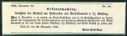 Lübeck - Edict Zur Markeneinführung Der 1 1/2 Shilling (Nr. 14)