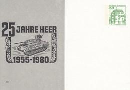 "PP 104/80** XI 25 Jahre Heer 1955-1980 Abb: Fla-Panzer ""Gepard"" Unter Gezähnt - [7] West-Duitsland"