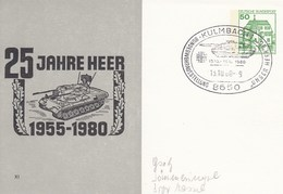 "PP 104/80 XI 25 Jahre Heer 1955-1980 Abb: Fla-Panzer ""Gepard"" Unter Gezähnt - Privé Postkaarten - Gebruikt"