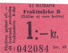 Schweden Eisenbahn Frachtmarke - Eisenbahnverkehr
