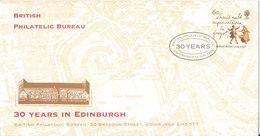 Great Britain Special Cover And Postmark British Philatelic Bureau 30 Years In Edinburgh 12-8-1996 - 1952-.... (Elizabeth II)