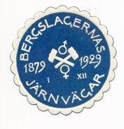 Schweden Vignette 1929 Eisenbahn Bergslagernas Hämmer - Eisenbahnverkehr