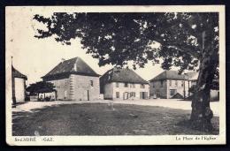 CPA ANCIENNE- FRANCE- ST-ANDRÉ-LE-GAZ (38)- LA PLACE DE L'EGLISE EN ÉTÉ- LA POSTE- - Saint-André-le-Gaz