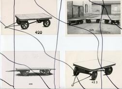 4 PHOTOS A IDENTIFIÉES. Camion . Essieux, Remorque, Roues , - Automobili