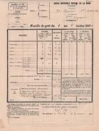 1er Déc. 1870 - SIÈGE DE PARIS - NEUILLY - GARDE NATIONALE MOBILE DE LA VIENNE - - Historical Documents