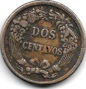 *peru 2 Centimos 1864  Km 188.1  Vf - Pérou