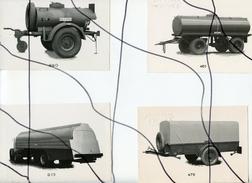 4 PHOTOS A IDENTIFIÉES. Citerne  . Essieux, Remorque, Roues , - Automobiles