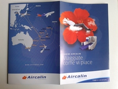 Alt999 Aircalin Air Caledonie International Airlines Flight Airbus Pacific Cabine Cabin Plane Papeete Sidney Fiji Noumea - Materiale Promozionale