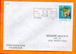 ISERE, Voiron, Flamme SCOTEM N° 11210, Art Et Traditions Populaires 30 Ans Du Groupe Salmorenc - Oblitérations Mécaniques (flammes)