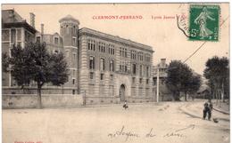 Clermont-Ferrand - Lycée Jeanne D'Arc Et Le Nettoyeur De Rames Tramway - Assez Rare - TBE+ - Clermont Ferrand
